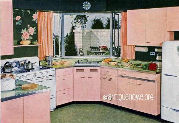 pink of perfection kitchen design 1950s a