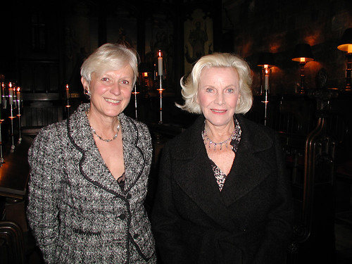 Honor Blackman with Jo Williams | by Mencap photos