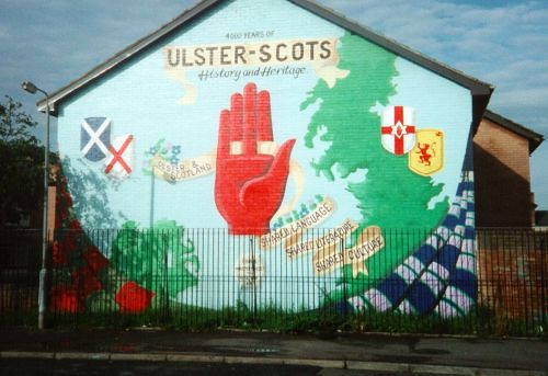 Ulster scots mural in northern ireland forged in ulster for Mural northern ireland