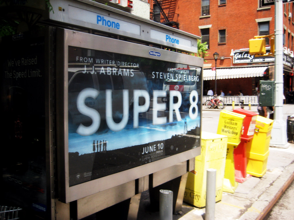super 8 phone booth movie poster billboard nyc 9627 flickr