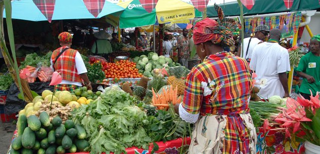 market day with a difference roseau dominica market day flickr