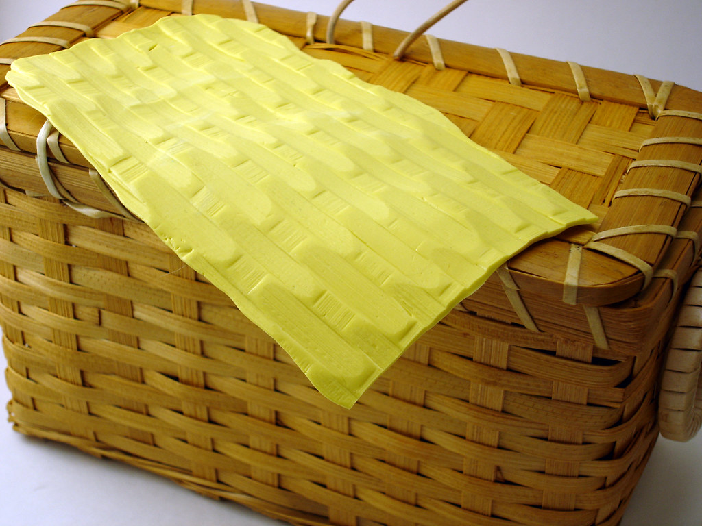 Basket Weaving Molds : Basket texture mold sheet made from the weave on