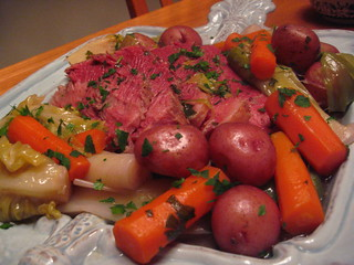 corned beef with leeks, cabbage, potatoes and carrots | by SeattleCocktailCulture