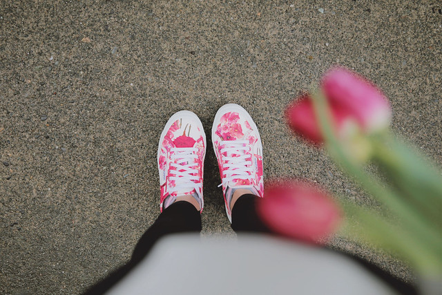 SUPERGA carnation print shoes via J.Jill