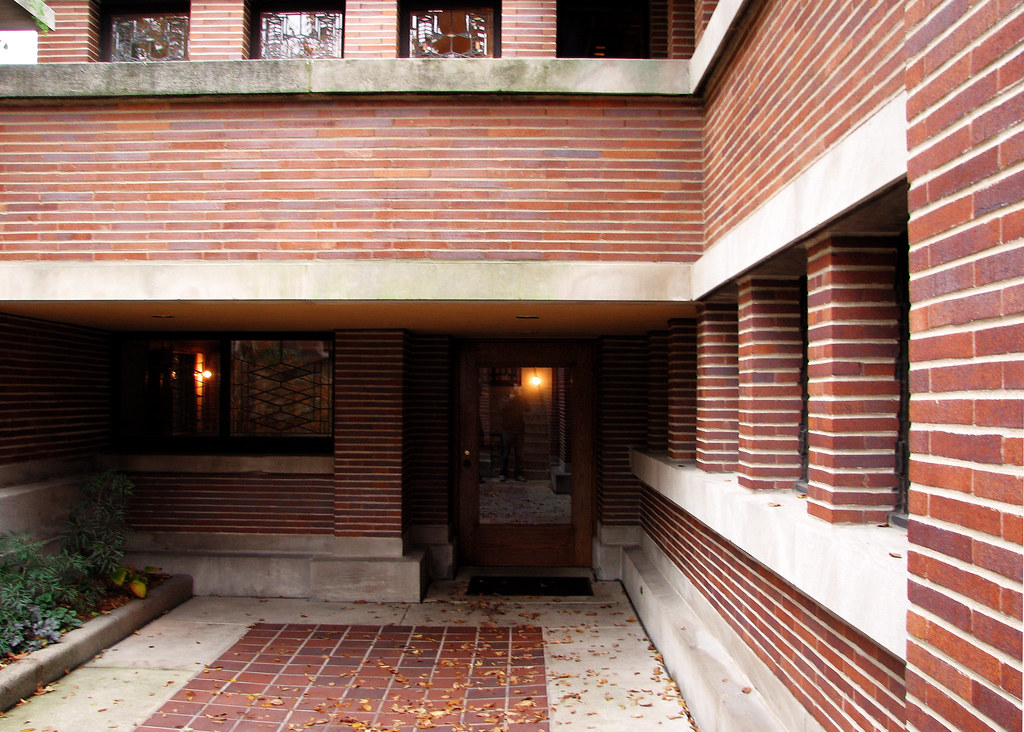 Robie House Front Door Direct Front View Toward The Entr Flickr
