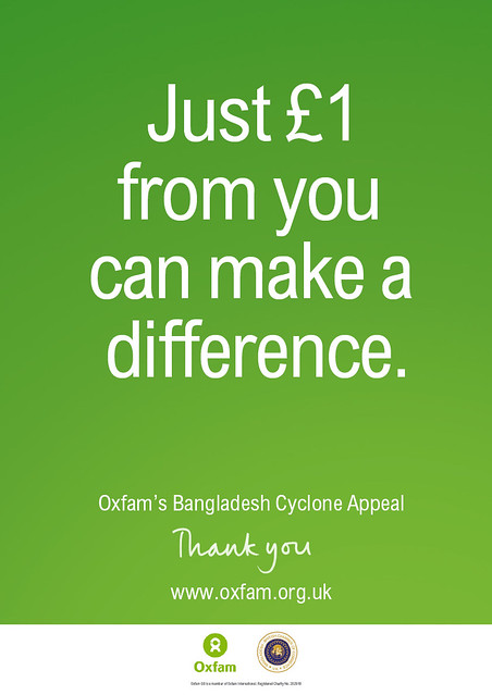 Oxfam's Bangladesh Cyclone Appeal | Here's a poster I did ...