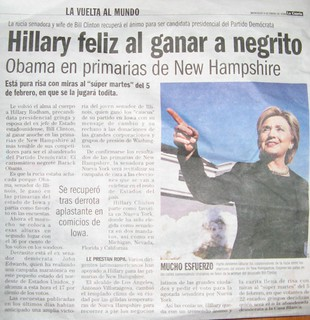 Chilean newspaper headline | by neil k.