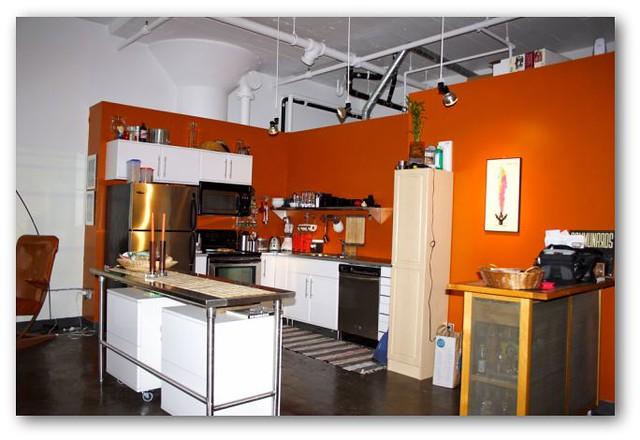 White Kitchen Stainless Steel Appliances Mixed