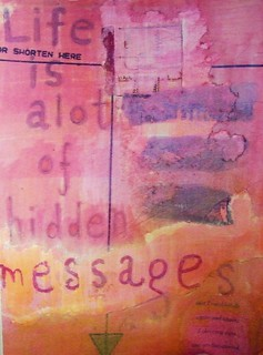 Life is alot of hidden messages journal page | by peregrine blue