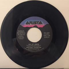 WHITNEY HOUSTON:SAVING ALL MY LOVE FOR YOU(RECORD SIDE-B)
