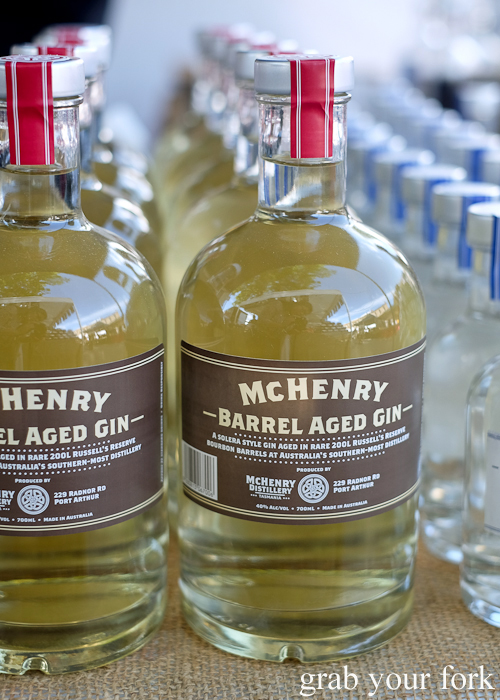 McHenry barrel aged gin at the Salamanca Market in Hobart