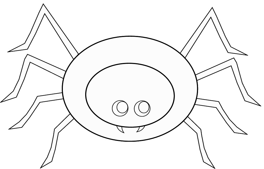 Spider To Colour 2 Eyes Cute Style Lge 17 Cm This