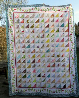 A finished quilttop | by Anne@surelynotanotherproject