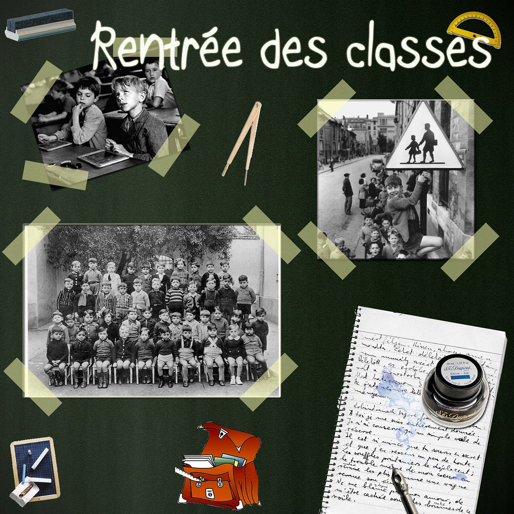 La rentr e des classes digital scrapbooking 3 me scrap for Photos de photos