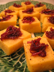 riverside tasting - polenta with caramelized red onion | by tofu666