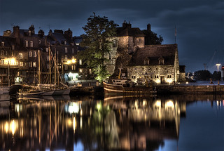Honfleur harbor at night | by MDSimages.com