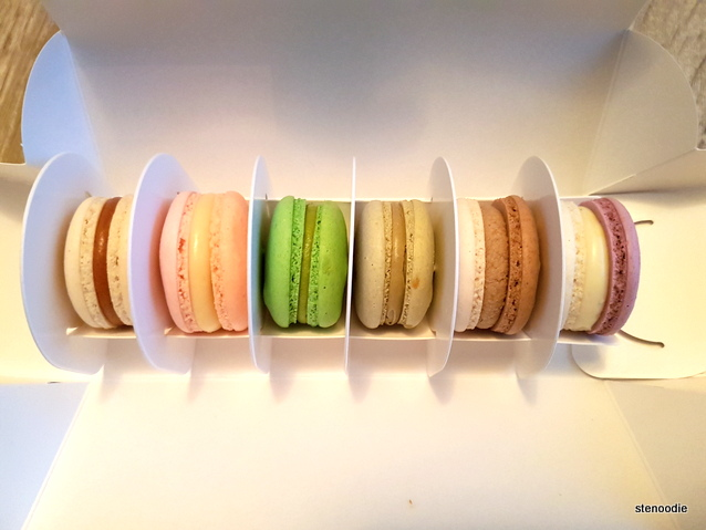 Butter Avenue macaron box of 6
