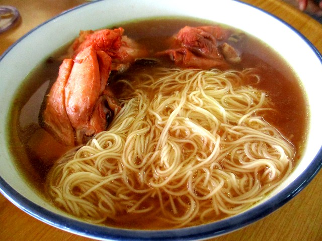 Mee sua in traditional Foochow red wine chicken soup 2