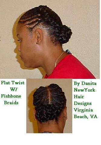 flat twist w fishbone braids danita new york hair
