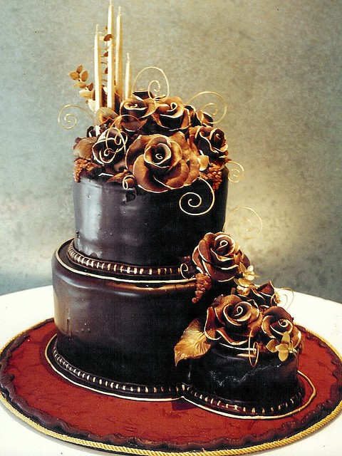 Chocolate Cake Designs For Anniversary : Chocolate Rose All edible cake with chocolate ganache ...