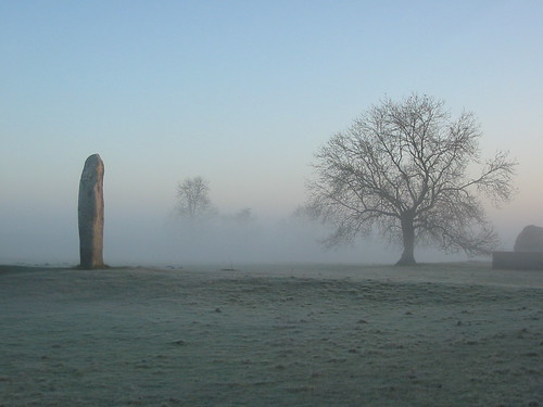 Avebury stones in the morning mist | by Another Partial Success