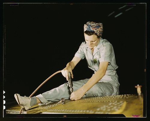 Drilling on a Liberator Bomber, Consolidated Aircraft Corp., Fort Worth, Texas  (LOC) | by The Library of Congress