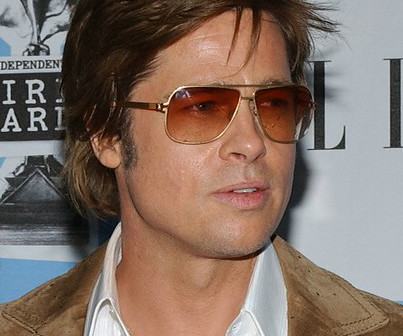 Brad Pitt Wearing Mykita Aviators Sunglasses Mykita