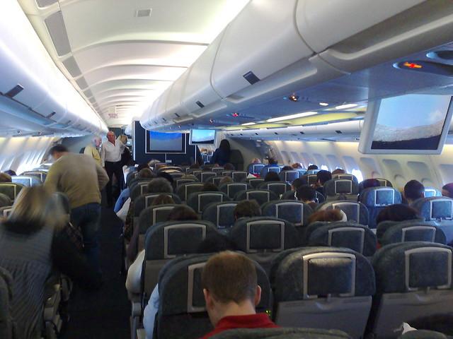 Inside the plane
