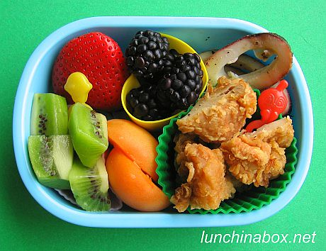Kara-age and squid bento lunch for preschooler | by Biggie*