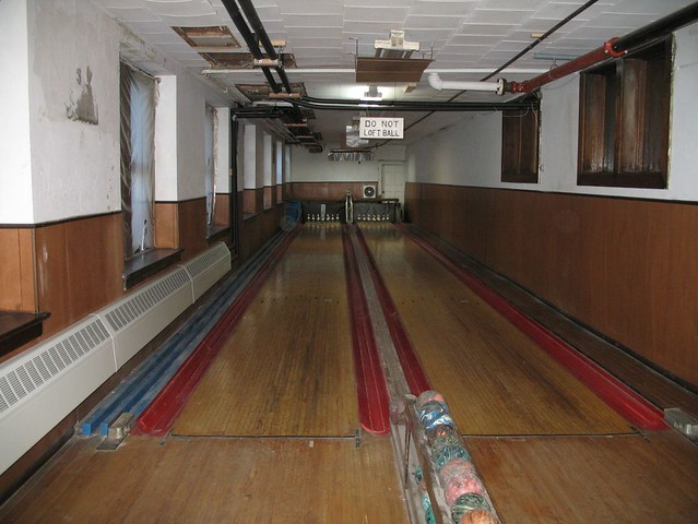 masonic temple bowling alley the basement of the temple