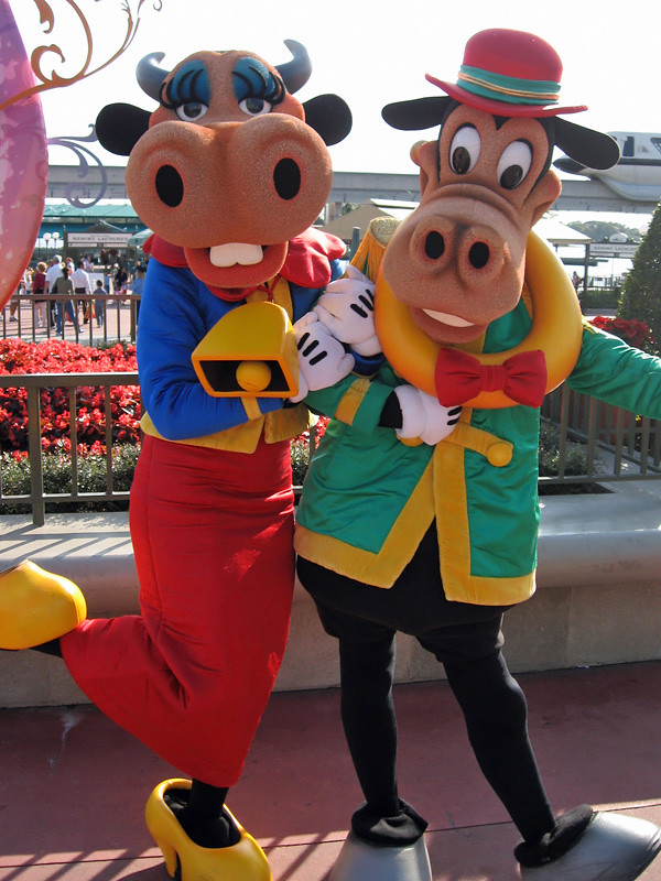 Meeting Clarabelle Cow and Horace Horsecollar   Taken on ...  Horace Horsecollar And Clarabelle Cow