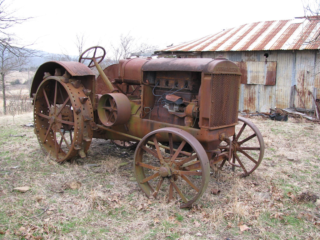 Vintage Farms Tractors For Sales : Old mccormick deering tractor mccurtain ok dale flickr