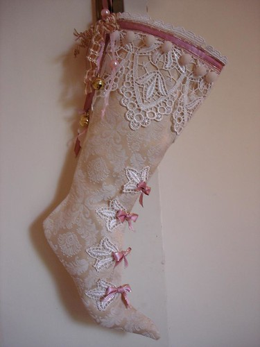 Vintage Christmas Stocking Swap Here Is My Stocking For