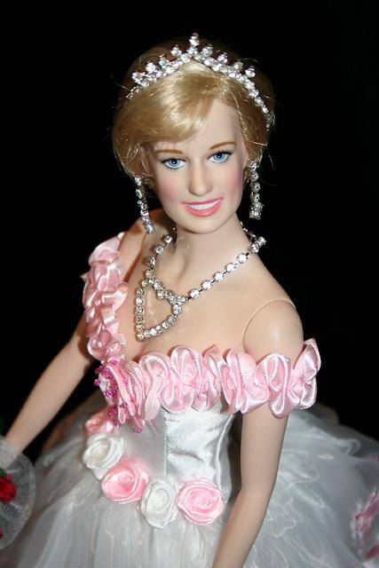 Princess Diana Rose Embroidered Organza Dress Anita