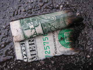 Burned and wet dollar | by gothick_matt