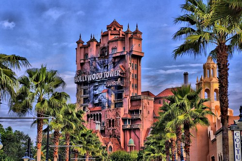 Disney - A Look at the Hollywood Tower Hotel Down Sunset BLVD in HDR