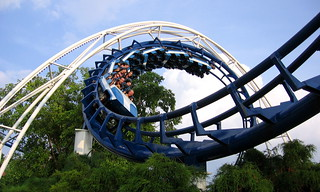 Corkscrew Roller Coaster | by Vlastula