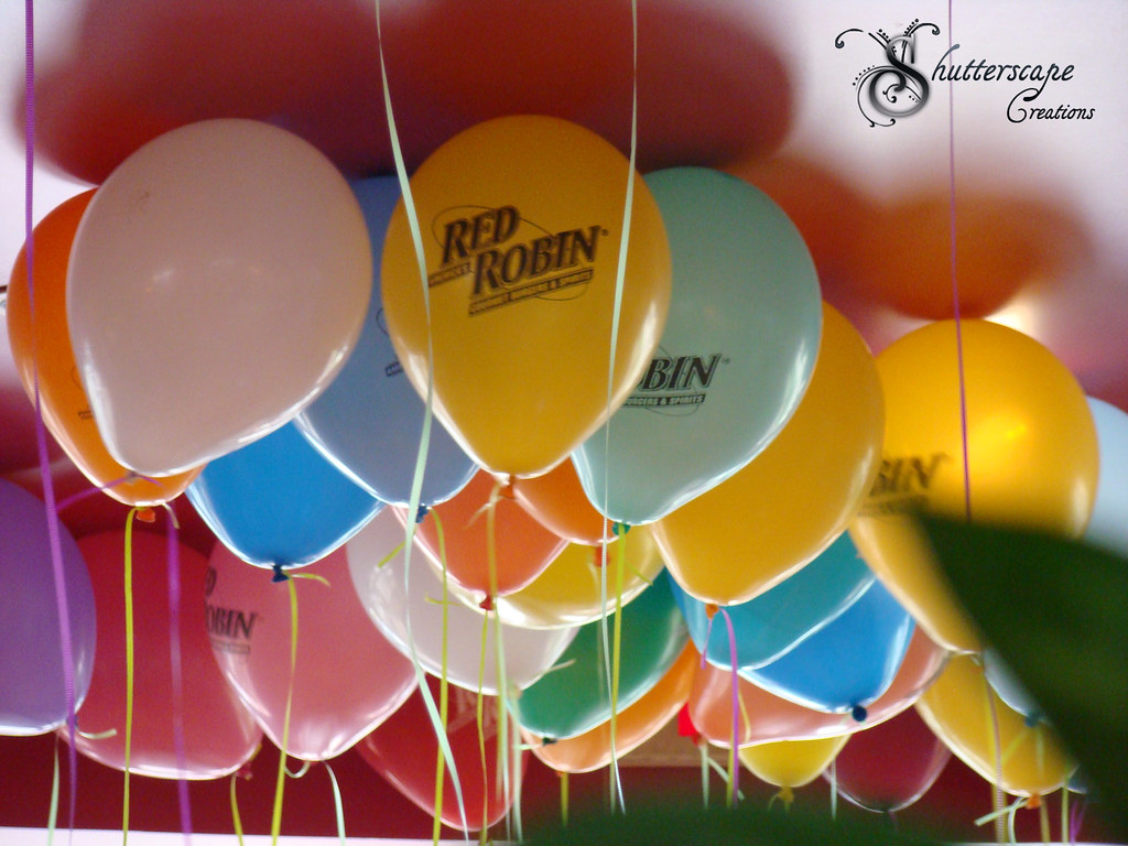 Colorful Balloons | The balloons near the door at Red