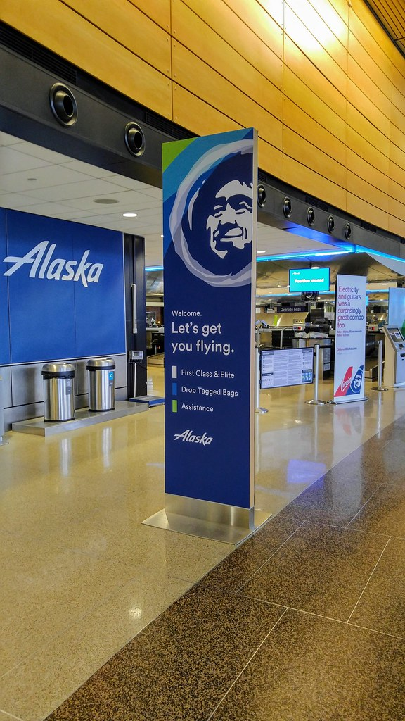 Alaska Airlines Ticket Counter at SEA