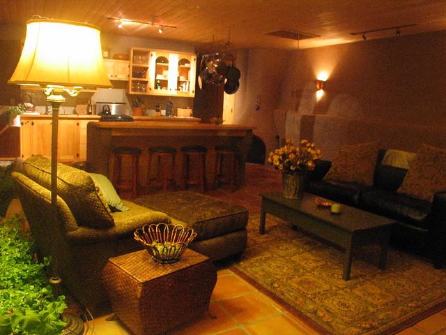 Packaged Earthship Living Room