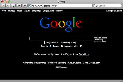black google earth day