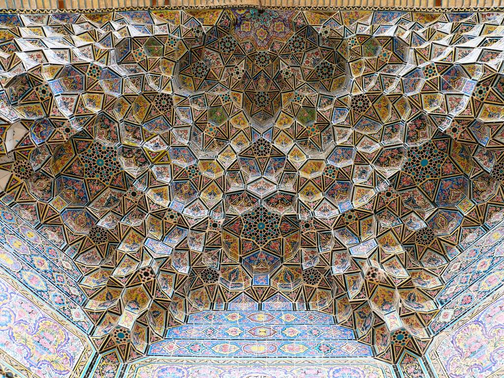 An Idea Of Heaven A Vault At The Nasr Ol Molk Mosque At