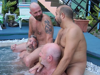 Orgie men Gay hairy