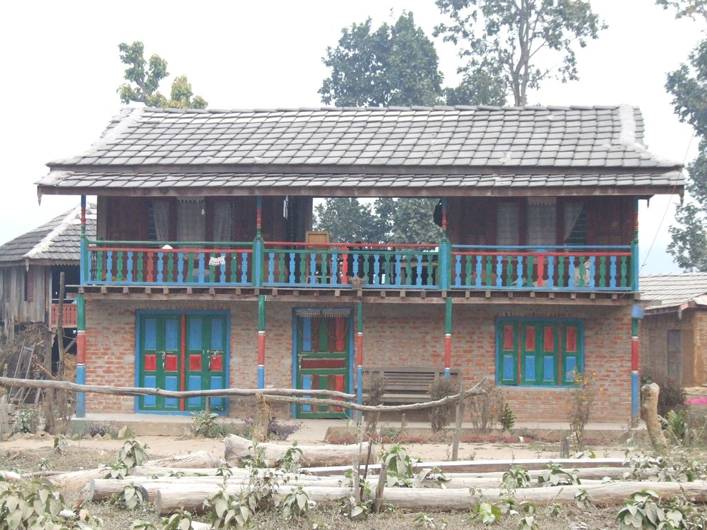 Nepali village house on the road in nepal roger g flickr for Nepali house design