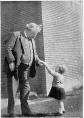 gk chesterton- receives a dandelion from a little girl | by LavenderLou