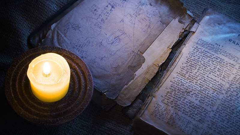 Candle & Book