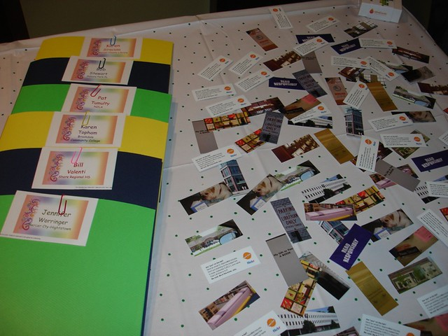 Welcome and sign in table folders and flickr moo cards for Table 52 cards