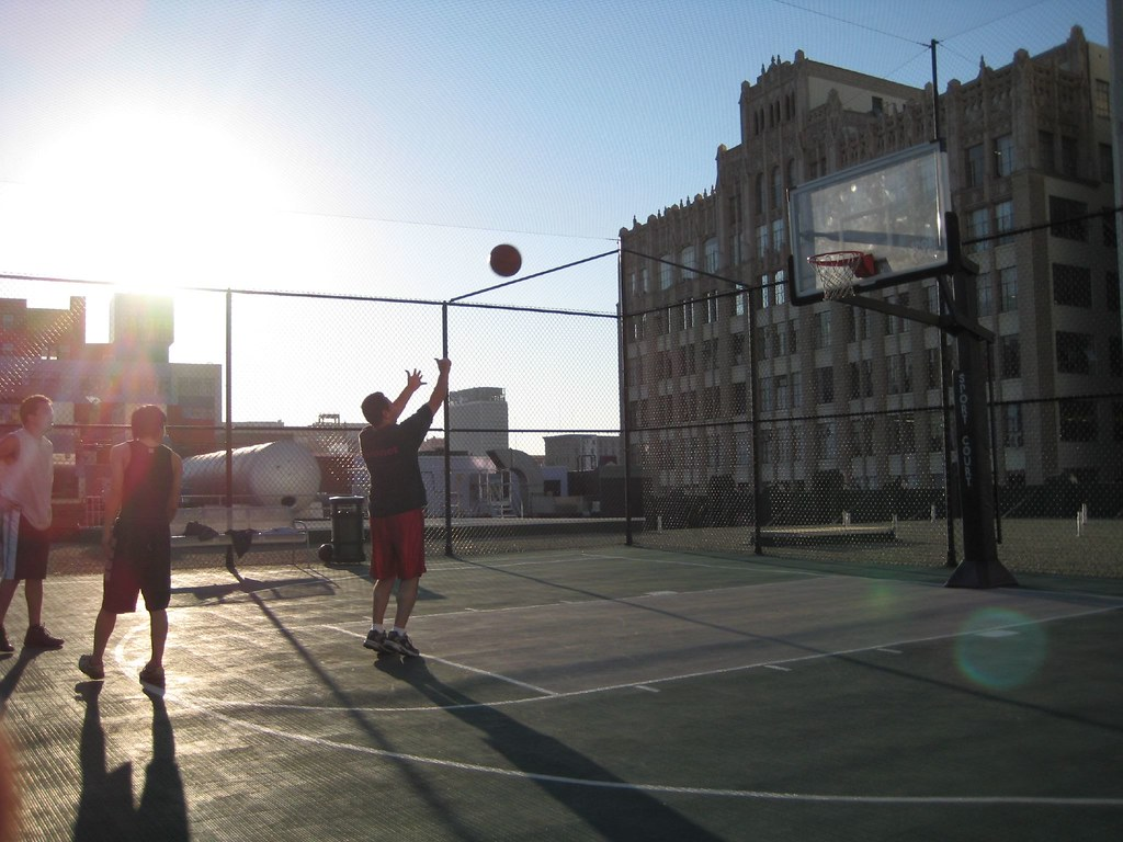 Basketball On The Santee Court Rooftops Playing