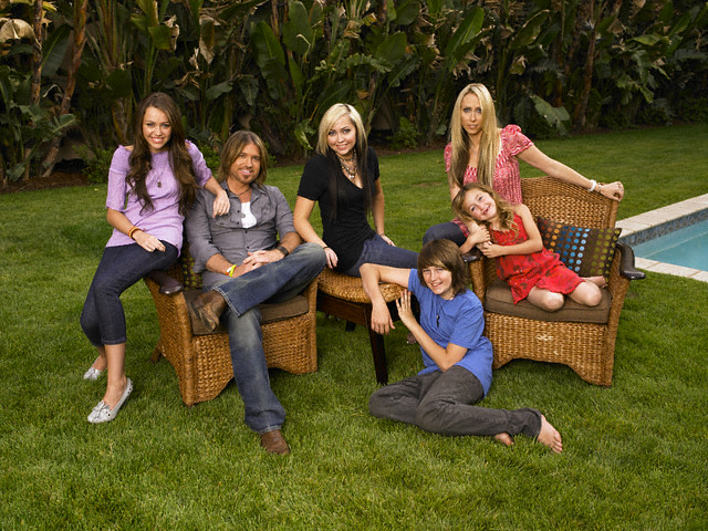 The Cyrus family | ca. 2007 --- L-R: Miley, Billy Ray ...