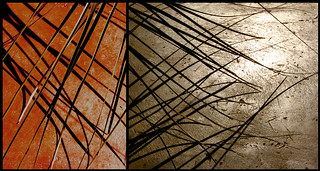 diptych red bronze | by j neuberger